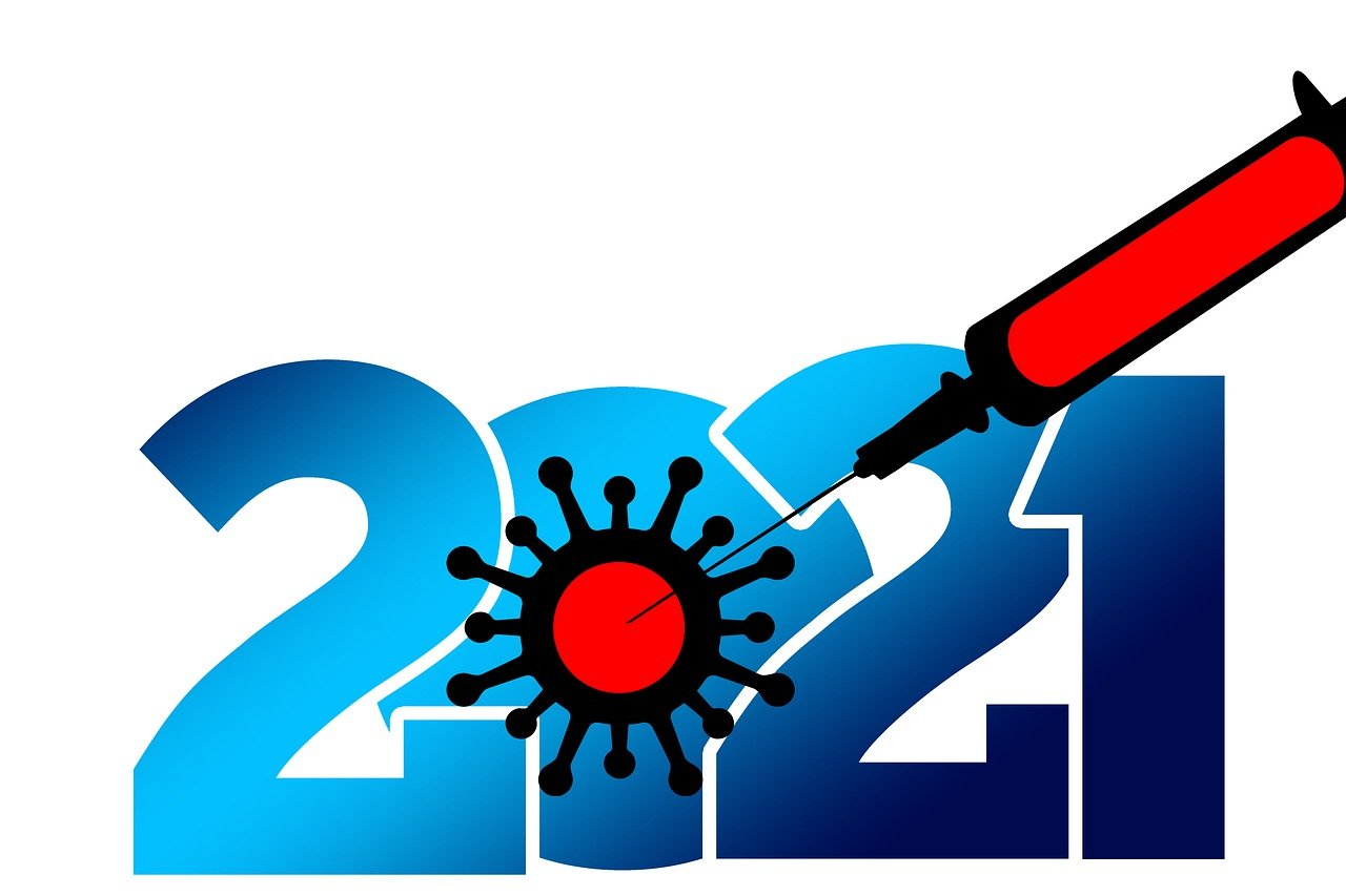 new year, 2021, syringe